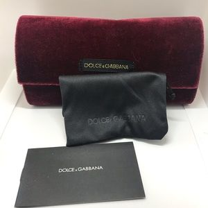 New Dolce & Gabana large sunglass case Burgandy